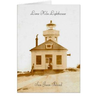 Lime Kiln Lighthouse Card