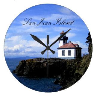 Lime Kiln Lighthouse Round Wallclock