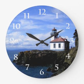 Lime Kiln Lighthouse Large Clock