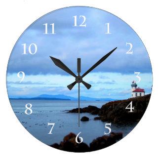 Lime Kiln Lighthouse Large Clock