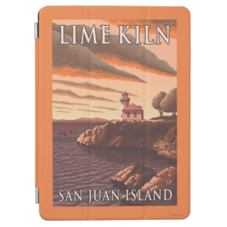 Lime Kiln Lighthouse Vintage Travel Poster iPad Air Cover