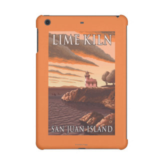 Lime Kiln Lighthouse Vintage Travel Poster iPad Mini Cases