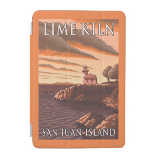 Lime Kiln Lighthouse Vintage Travel Poster iPad Mini Cover
