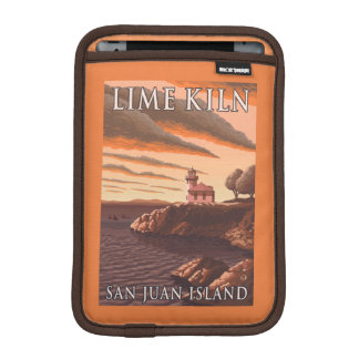 Lime Kiln Lighthouse Vintage Travel Poster iPad Mini Sleeve