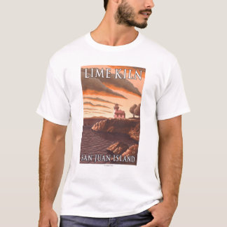 Lime Kiln Lighthouse Vintage Travel Poster T-Shirt