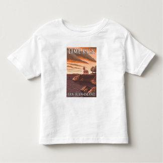 Lime Kiln Lighthouse Vintage Travel Poster Toddler T-shirt