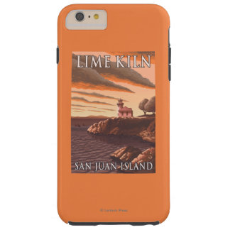 Lime Kiln Lighthouse Vintage Travel Poster Tough iPhone 6 Plus Case
