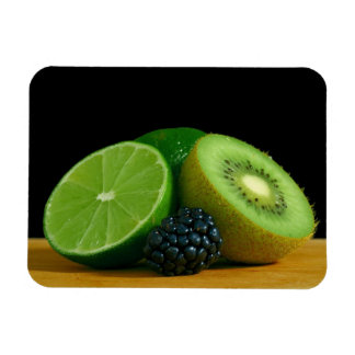 Lime, Kiwi and Blackberry Magnet