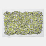 lime lace hand towels