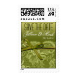 Lime Lace Save the Date Wedding Postage