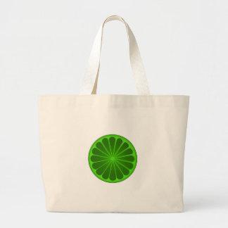 Lime Large Tote Bag