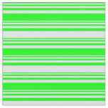 [ Thumbnail: Lime & Lavender Colored Lined/Striped Pattern Fabric ]