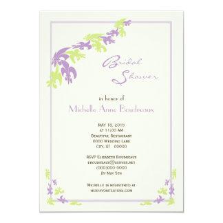 Lime Lavender Fleur de Lis Modern Bridal Shower Card