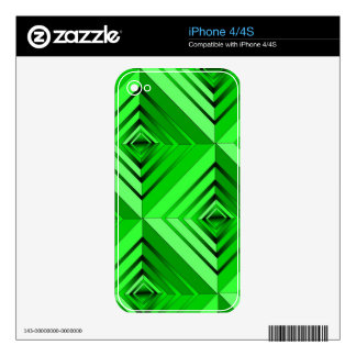 Lime Layers Decals For The iPhone 4