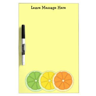 Lime Lemon and Orange Dry-Erase Board