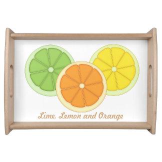 Lime, Lemon and Orange Serving Tray