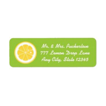 Valentines Themed Lime Lemon Heart Return Address Labels Stickers