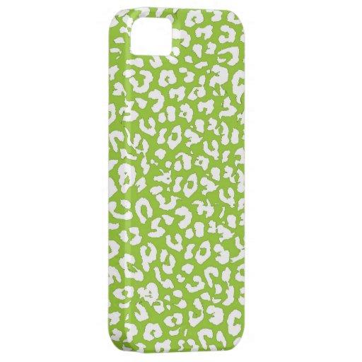 Lime Leopard Print Skin Fur iPhone 5 Case
