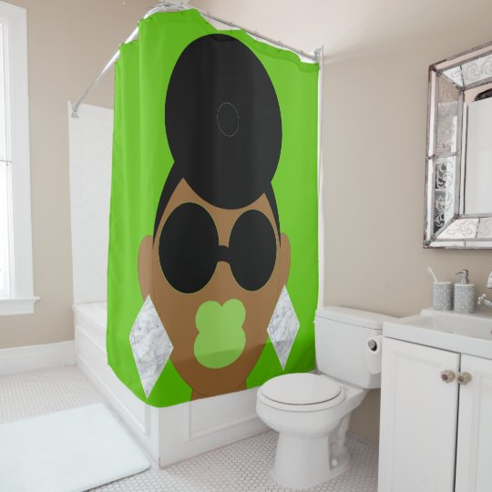 Lime Light Afrocentric Shower Curtain