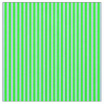 [ Thumbnail: Lime & Light Blue Colored Lined Pattern Fabric ]