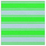 [ Thumbnail: Lime & Light Blue Lines/Stripes Pattern Fabric ]