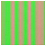 [ Thumbnail: Lime & Light Coral Lines Fabric ]