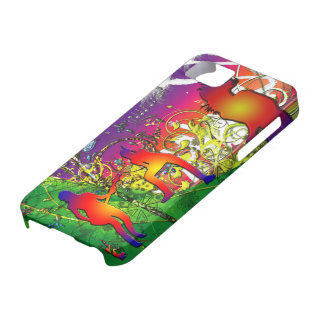 Lime Light Dancing Music Tropical Floral Collage iPhone SE/5/5s Case