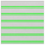 [ Thumbnail: Lime & Light Grey Lined/Striped Pattern Fabric ]