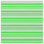 [ Thumbnail: Lime & Light Grey Stripes Fabric ]
