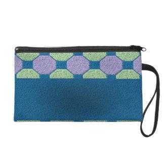 Lime & Lilac Pattern Wristlet Purse