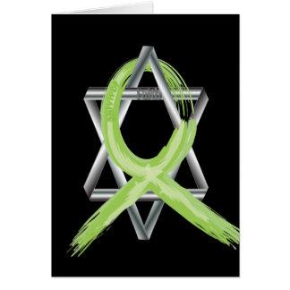 Lime Lymphoma Cancer Survivor Ribbon Greeting Cards