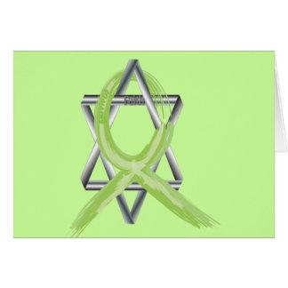 Lime Lymphoma Cancer Survivor Ribbon Card