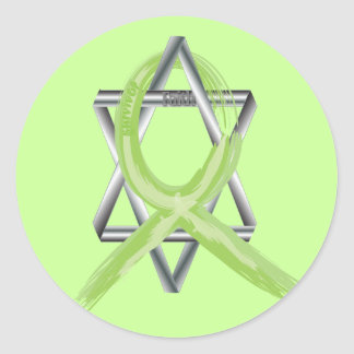 Lime Lymphoma Cancer Survivor Ribbon Classic Round Sticker
