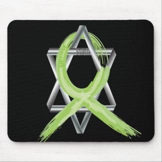 Lime Lymphoma Cancer Survivor Ribbon Mouse Pad