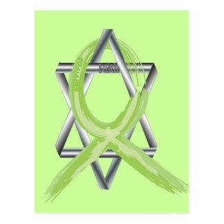 Lime Lymphoma Cancer Survivor Ribbon Postcard