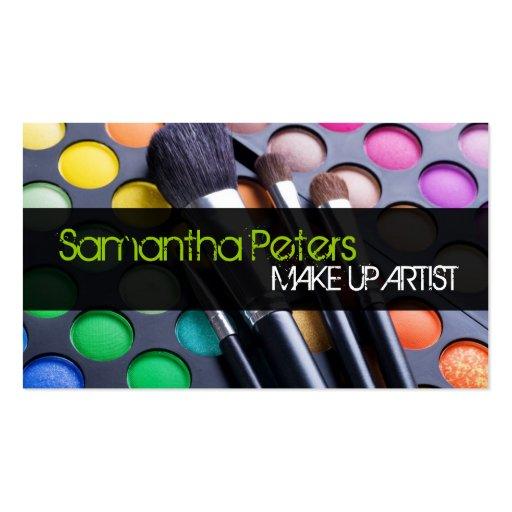 Lime Make Up Artist Palette Brush Business Card