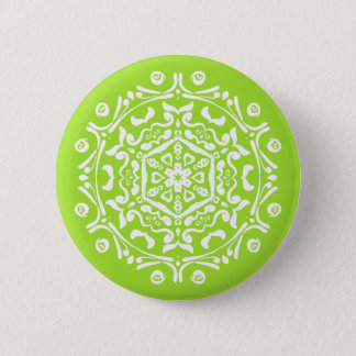 Lime Mandala Button