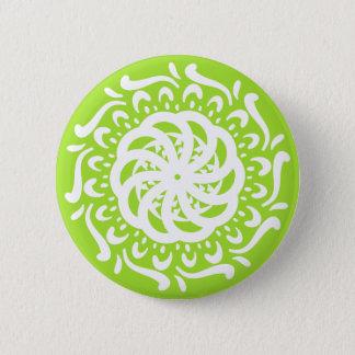 Lime Mandala Button