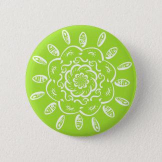 Lime Mandala Pinback Button