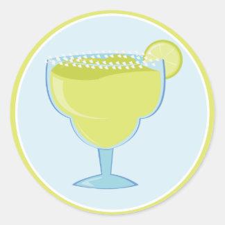 Lime Margarita Classic Round Sticker