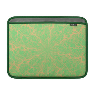 Lime Maze Horizontal MacBook Air Sleeve