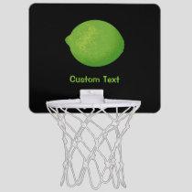 Lime Mini Basketball Hoop