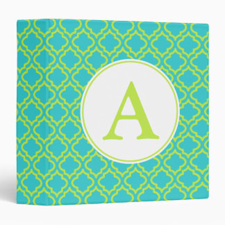 Lime Monogram Binder