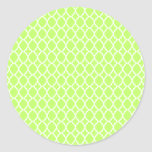 Lime Moroccan Tile Stickers