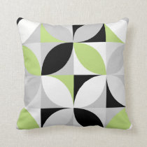 Lime mosaic pattern throw pillow