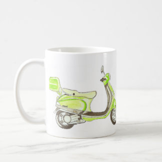 LIME MOTOR SCOOTER COFFEE MUG