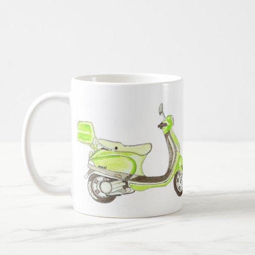 LIME MOTOR SCOOTER COFFEE MUG