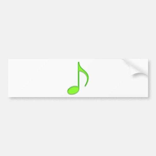 Lime Music Note Bumper Sticker