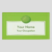 Lime Name Tag