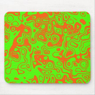Lime & Orange Mousepad